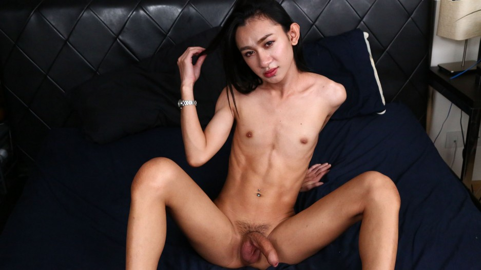 Tgirl Beauty Ped Tugging Her Cock And Cums!